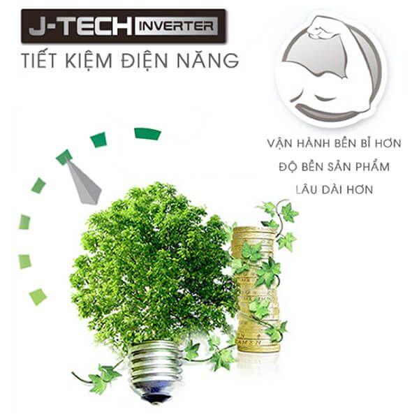 Công nghệ J-Tech Inverter tiết kiệm tối ưu - Tủ lạnh Sharp Inverter 605 lít SJ-FX688VG-BK