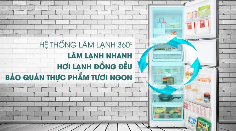 Hệ thống làm lạnh đa chiều 360 độ - Tủ lạnh Electrolux Inverter 334 lít EME3700H-H