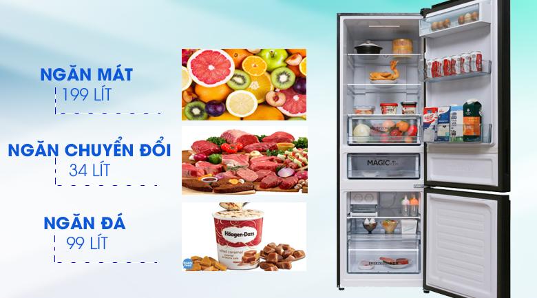 Dung tích - Tủ lạnh Toshiba Inverter 305 lít GR-AG36VUBZ
