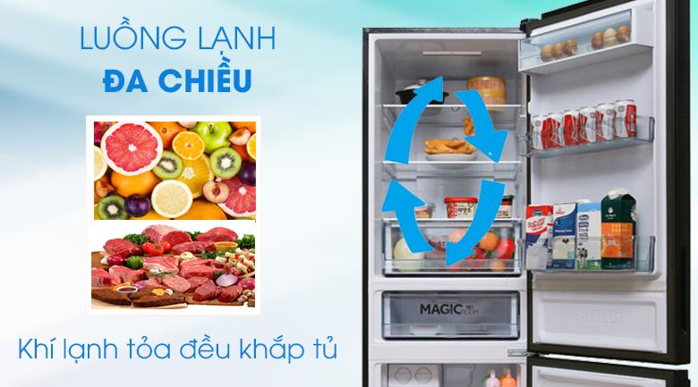 Làm lạnh đa chiều - Tủ lạnh Toshiba Inverter 305 lít GR-AG36VUBZ