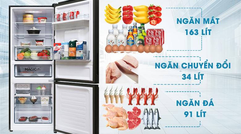 Dung tích - Tủ lạnh Aqua 288 lít AQR-IW338EB