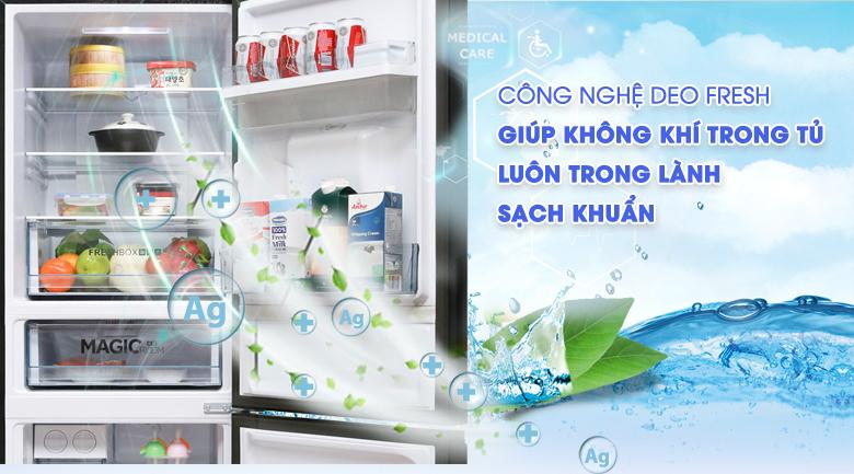 Kháng khuẩn Deo Fresh - Tủ lạnh Aqua 288 lít AQR-IW338EB