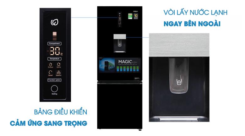 Lấy nước ngoài - Tủ lạnh Aqua 288 lít AQR-IW338EB