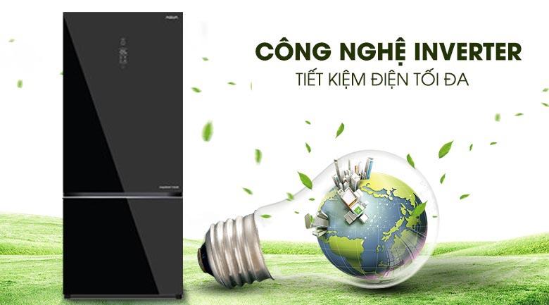 Công nghệ Inverter - Tủ lạnh Aqua Inverter 260 lít AQR-IG298EB GB