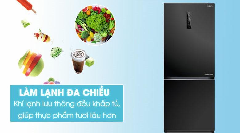 Làm lạnh đa chiều- Tủ lạnh Aqua Inverter 260 lít AQR-IG298EB GB