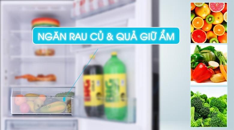 Ngăn rau quả giữ ẩm - Tủ lạnh Aqua Inverter 260 lít AQR-IG298EB GB