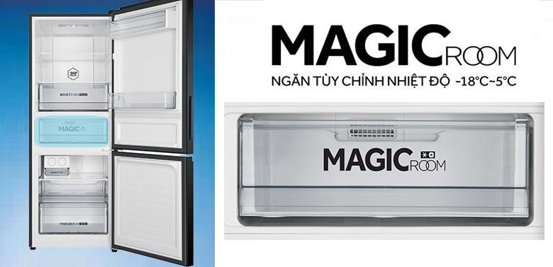 Ngăn Magic Room - Tủ lạnh Aqua Inverter 260 lít AQR-IG298EB GB