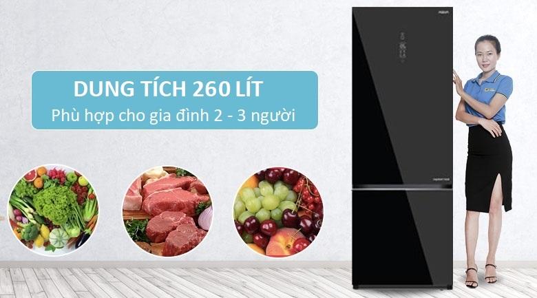 Dung tích 260 lít - Tủ lạnh Aqua Inverter 260 lít AQR-IG298EB GB