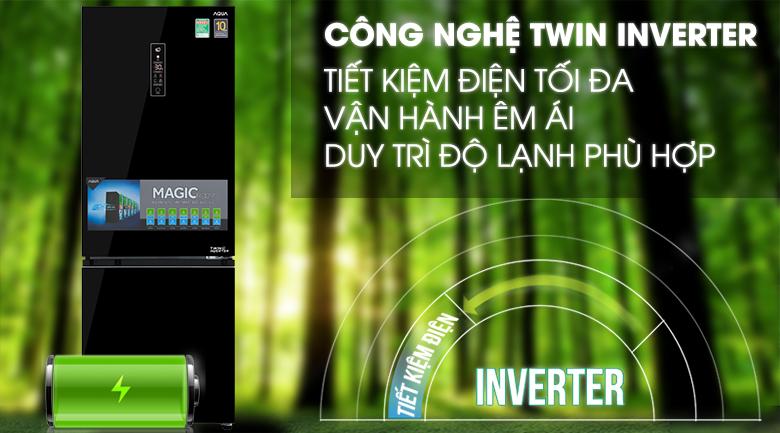 Công nghệ Inverter tiết kiệm điện - Tủ lạnh Aqua 292 lít AQR-IG338EB GB
