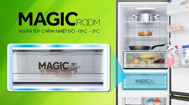 Ngăn Magic Room điều chỉnh nhiệt độ -18 độ C ~ 5 độ C - Tủ lạnh Aqua 292 lít AQR-IG338EB GB