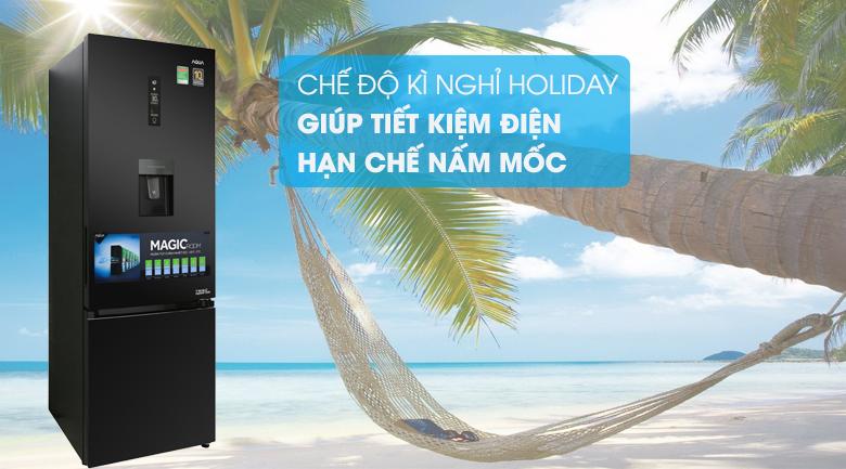 Chức năng Holiday - Tủ lạnh Aqua Inverter 320 lít AQR-IW378EB BS