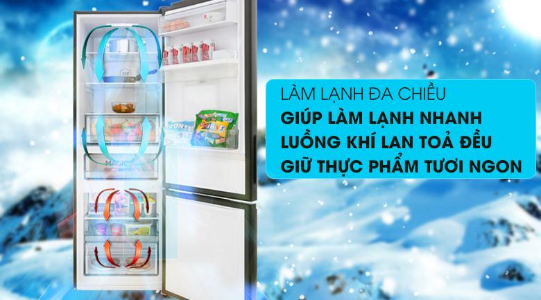Hệ thống làm lạnh đa chiều - Tủ lạnh Aqua Inverter 320 lít AQR-IW378EB BS