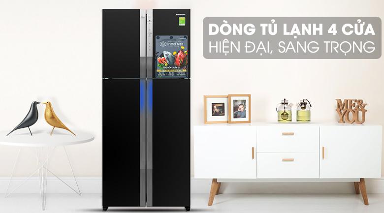 Tủ lạnh 4 cửa hiện đại, sang trọng - Tủ lạnh Panasonic Inverter 550 lít NR-DZ600GXVN