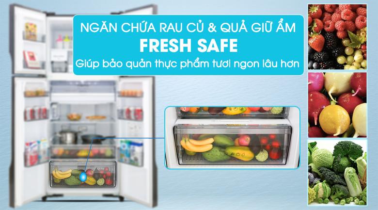 Ngăn rau quả giữ ẩm Fresh Safe - Tủ lạnh Panasonic Inverter 550 lít NR-DZ600GXVN