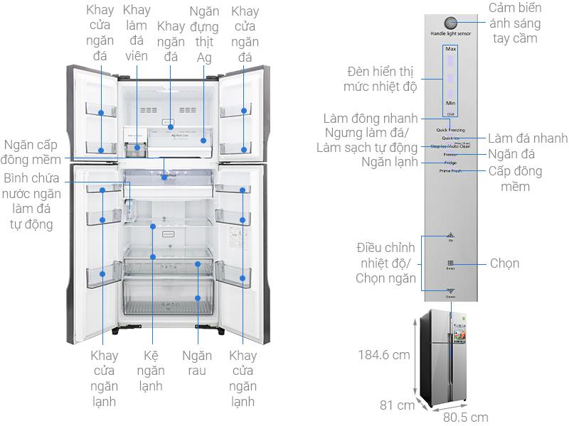 Thông số kỹ thuật Tủ lạnh Panasonic Inverter 550 lít NR-DZ600MBVN