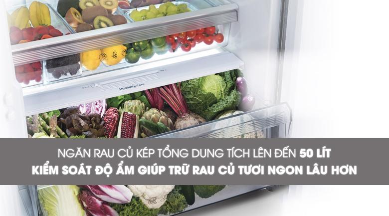 Ngăn rau quả giữ ẩm - Tủ lạnh Panasonic Inverter 550 lít NR-DZ600MBVN