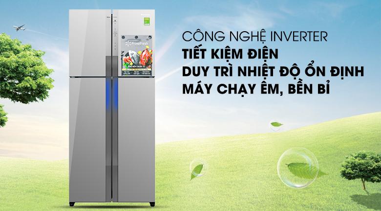 Công nghệ Inverter - Tủ lạnh Panasonic Inverter 550 lít NR-DZ600MBVN