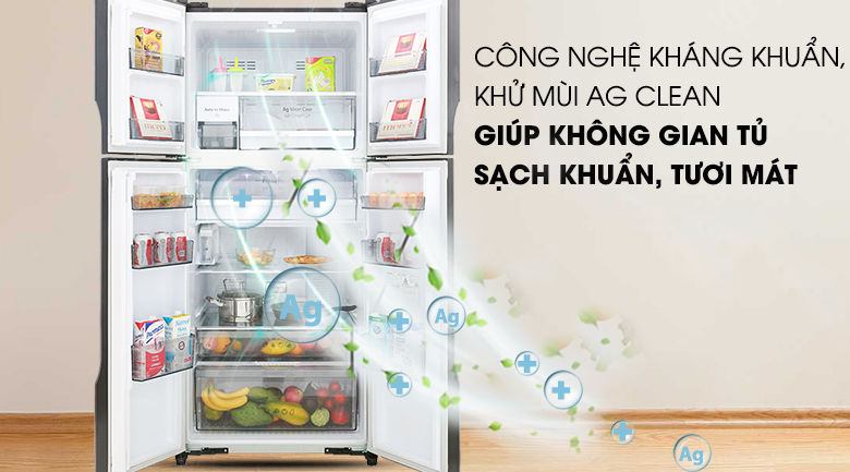 Công nghệ Ag Clean - Tủ lạnh Panasonic Inverter 550 lít NR-DZ600MBVN