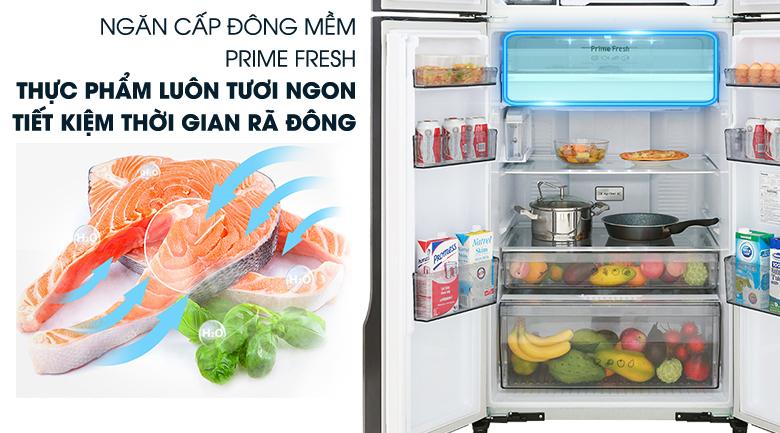Cấp đông mềm - Tủ lạnh Panasonic Inverter 550 lít NR-DZ600MBVN