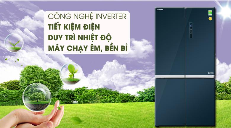 Công nghệ Inverter tiết kiệm điện hiệu quả cho gia đình - Tủ lạnh Toshiba Inverter 622 lít GR-RF646WE-PGV(24) Mẫu 2019