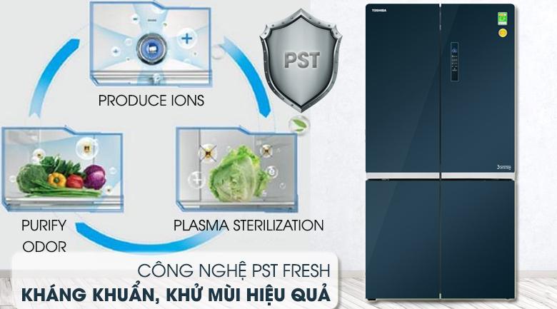 Công nghệ PST Fresh kháng khuẩn, khử mùi hiệu quả - Tủ lạnh Toshiba Inverter 622 lít GR-RF646WE-PGV(24) Mẫu 2019
