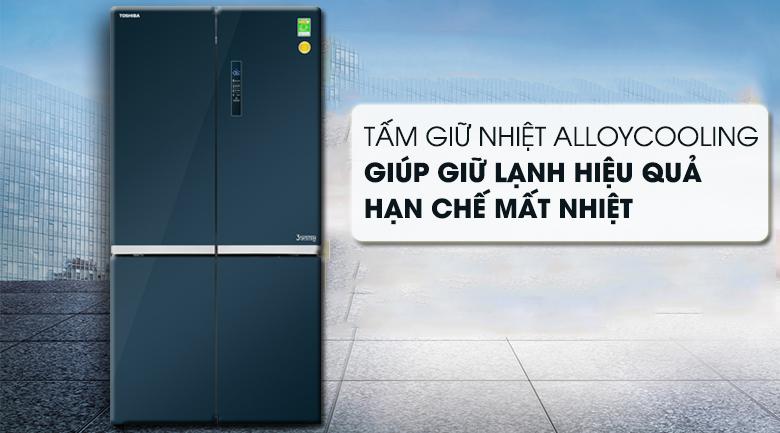 Tấm AlloyCooling giữ lạnh và truyền nhiệt tốt - Tủ lạnh Toshiba Inverter 622 lít GR-RF646WE-PGV(24) Mẫu 2019