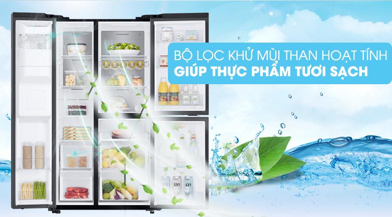 Bảo quản thực phẩm tươi sạch với bộ lọc than hoạt tính - Tủ lạnh Samsung Inverter 602 lít RS65R5691B4/SV Mẫu 2019