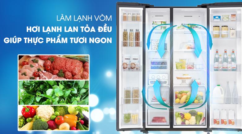 Công nghệ làm lạnh vòm bảo quản thực phẩm tươi ngon lâu dài - Tủ lạnh Samsung Inverter 602 lít RS65R5691B4/SV Mẫu 2019