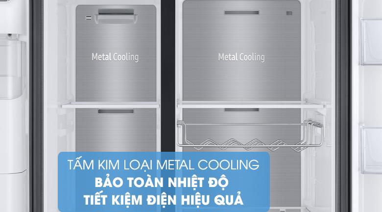 Hạn chế mất nhiệt với tấm chắn giữ nhiệt Metal Cooling - Tủ lạnh Samsung Inverter 602 lít RS65R5691B4/SV Mẫu 2019