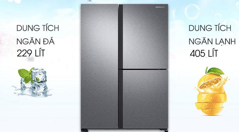 Dung tích 634 lít - Tủ lạnh Samsung Inverter 634 lít RS63R5571SL/SV