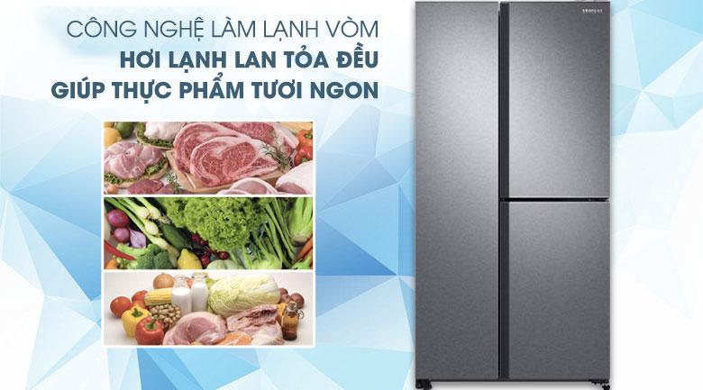 Công nghệ làm lạnh vòm - Tủ lạnh Samsung Inverter 634 lít RS63R5571SL/SV