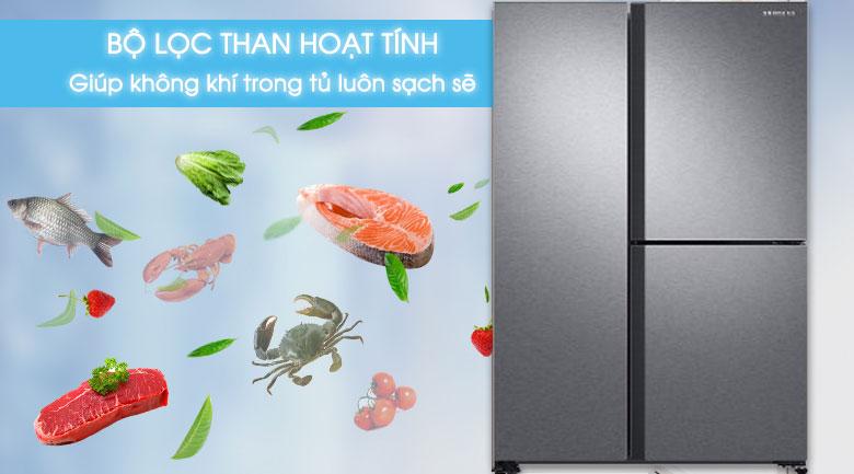 Bộ lọc than hoạt tính - Tủ lạnh Samsung Inverter 634 lít RS63R5571SL/SV