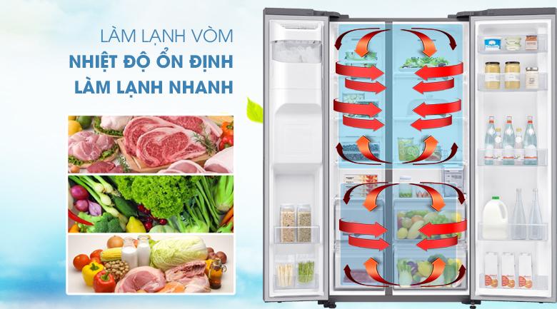 Hệ thống làm lạnh vòm làm lạnh đồng đều hơn cho thực phẩm trong tủ - Tủ lạnh Samsung Inverter 617 lít RS64R5101SL/SV Mẫu 2019