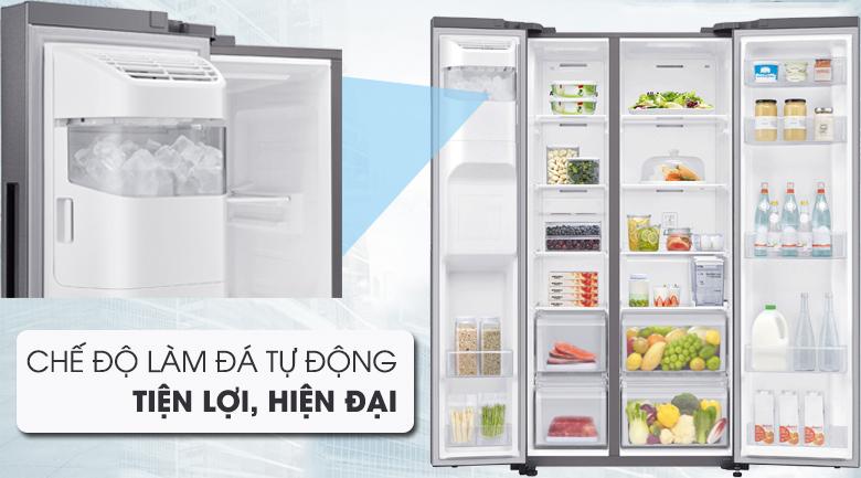 Làm đá tự động hiện đại và tiện lợi - Tủ lạnh Samsung Inverter 617 lít RS64R5101SL/SV Mẫu 2019