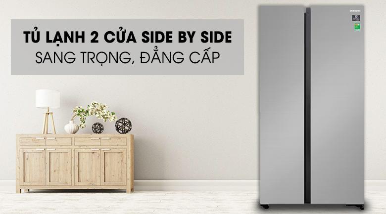 Tủ lạnh Samsung Inverter 647 lít RS62R5001M9/SV Mẫu 2019 - Thiết kế sang trọng, đẳng cấp