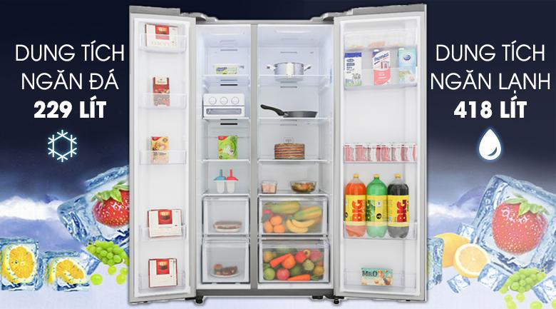 Tủ lạnh Samsung Inverter 647 lít RS62R5001M9/SV Mẫu 2019 - Dung tích 647 lít dành cho gia đình đông thành viên