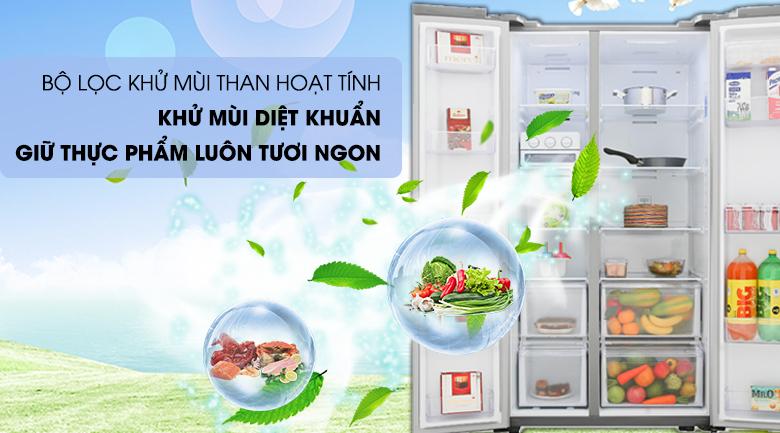 Bộ lọc khử mùi than hoạt tính - Tủ lạnh Samsung Inverter 647 lít RS62R5001M9/SV