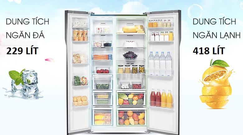 Dung tích 647 lít - Tủ lạnh Samsung Inverter 647 lít RS62R5001M9/SV