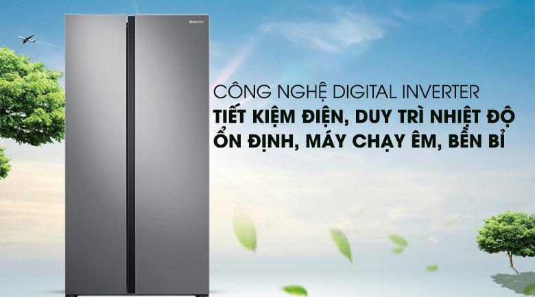 Digital Inverter - Tủ lạnh Samsung Inverter 647 lít RS62R5001M9/SV