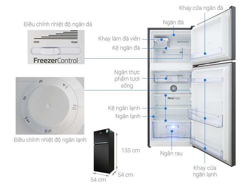 Thông số kỹ thuật Tủ lạnh Beko Inverter 188 lít RDNT200I50VWB