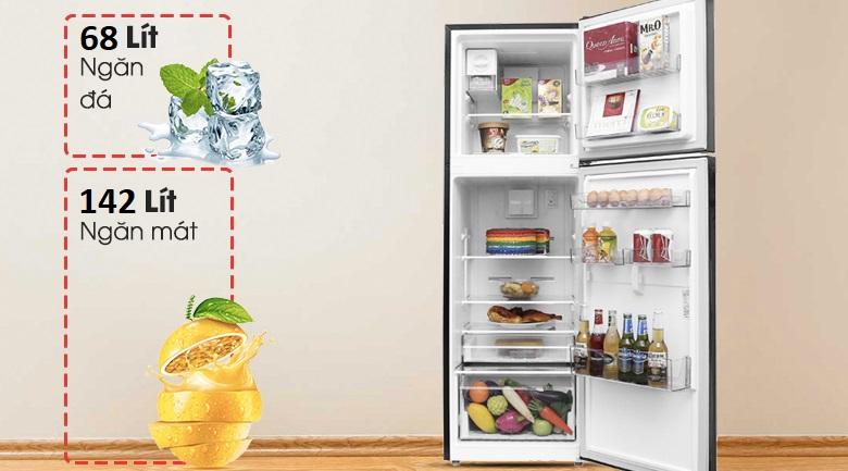 Dung tích  210 lít - Tủ lạnh Beko Inverter 210 lít RDNT231I50VWB
