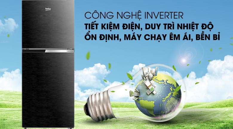 Công nghệ Inverter - Tủ lạnh Beko Inverter 210 lít RDNT231I50VWB
