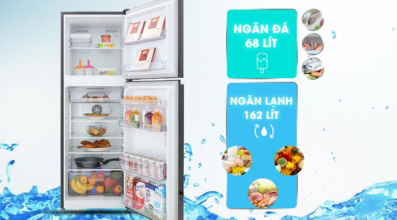 Dung tích 230 lít - Tủ lạnh Beko Inverter 230 lít RDNT251I50VWB