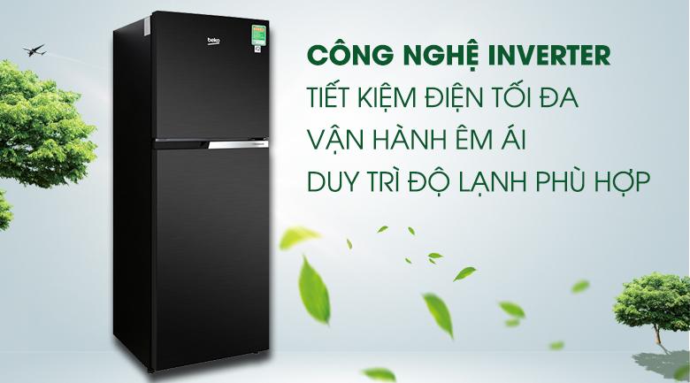 Công nghệ Inverter - Tủ lạnh Beko Inverter 230 lít RDNT251I50VWB