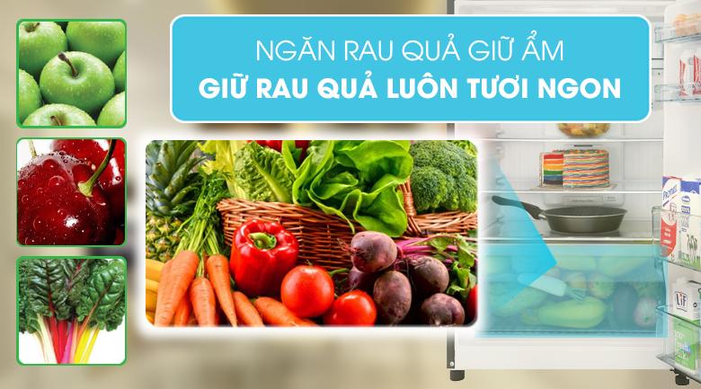 Ngăn rau quả giữ ẩm - Tủ lạnh Hitachi Inverter 339 lít R-FG450PGV8 GBK