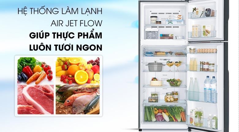 Công nghệ Air Jet Flow - Tủ lạnh Hitachi Inverter 339 lít R-FG450PGV8 GBK