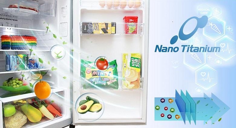 Công nghệ Nano Titanium - Tủ lạnh Hitachi Inverter 339 lít R-FG450PGV8 GBK