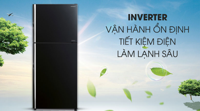 Tích hợp công nghệ Inverter - Tủ lạnh Hitachi Inverter 406 lít R-FG510PGV8 GBK