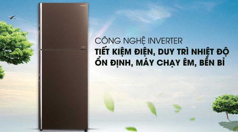 Tích hợp công nghệ Inverter - Tủ lạnh Hitachi Inverter 406 lít R-FG510PGV8 GBW