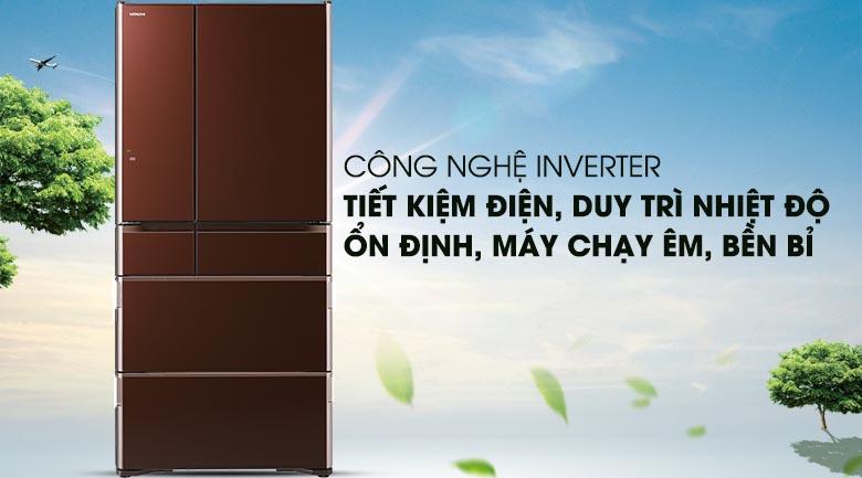 Công nghệ Inverter - Tủ lạnh Hitachi Inverter 657 lít R-G620GV XT